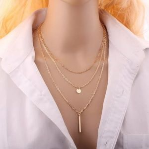 Women Gold 3 Layers Chain